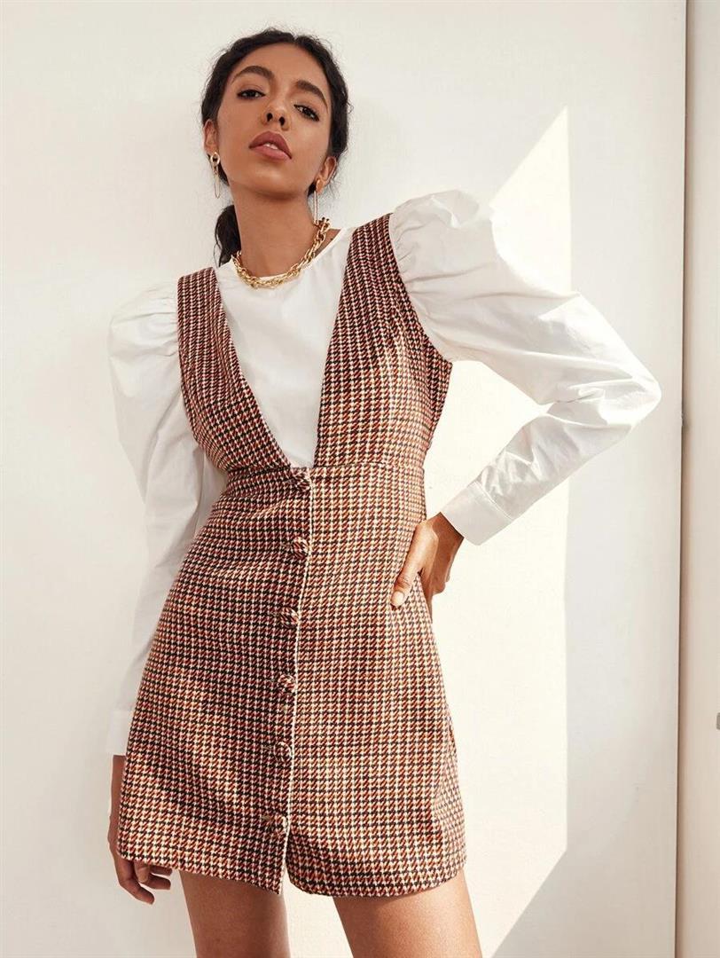 shein-plaid-dress