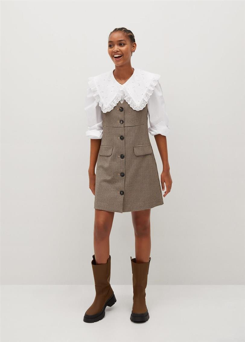 This is Mango's most wanted (and desired) checkered pinafore and we have found its clone