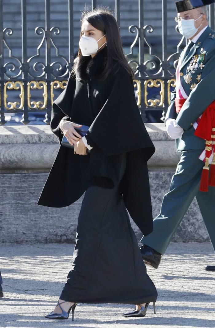 Letizia Ortiz in the military Easter