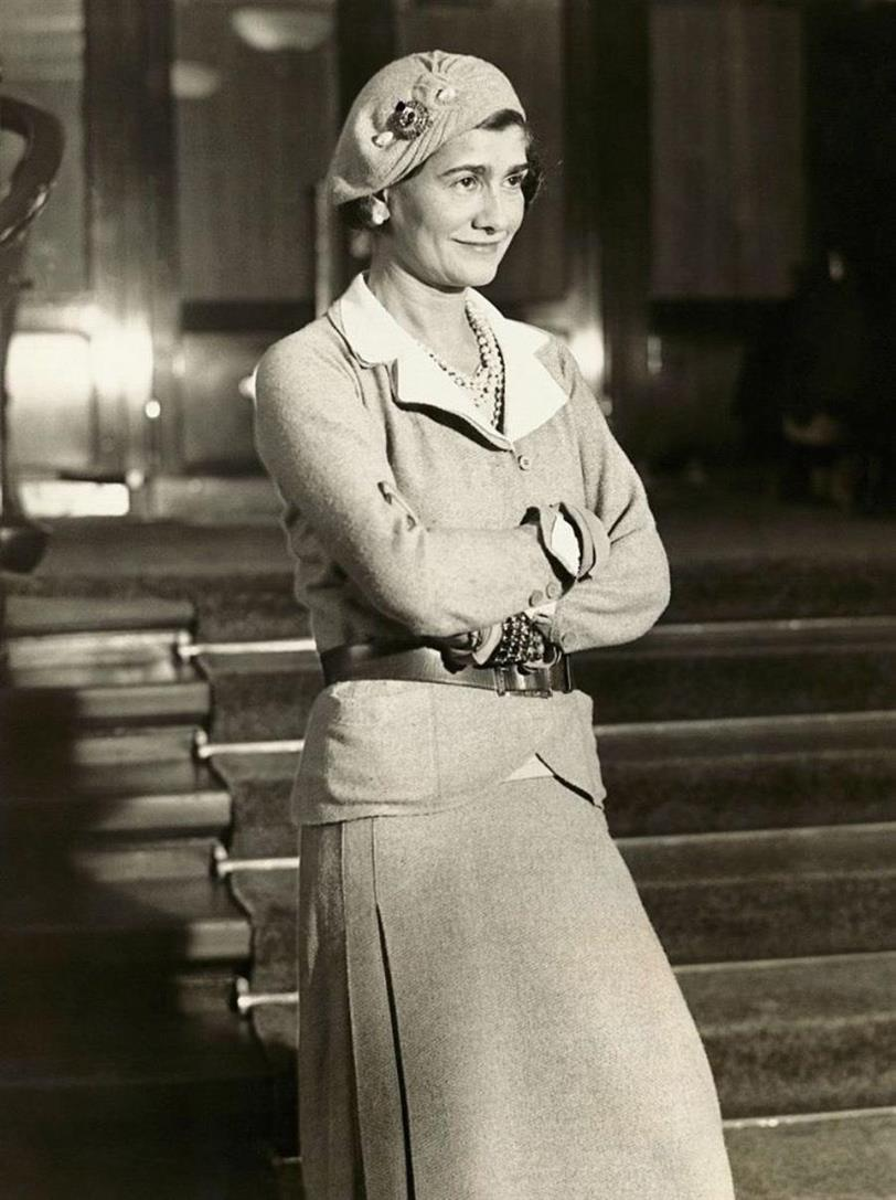 Gabrielle Chanel with beret